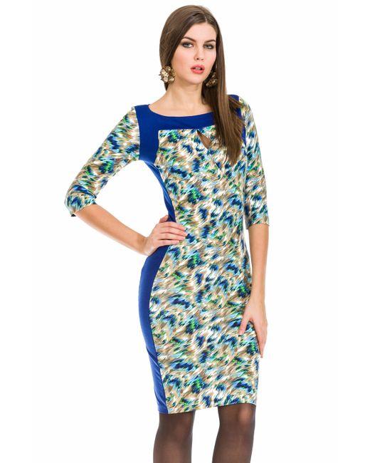 Mondigo | Женское Голубое Платье 5129