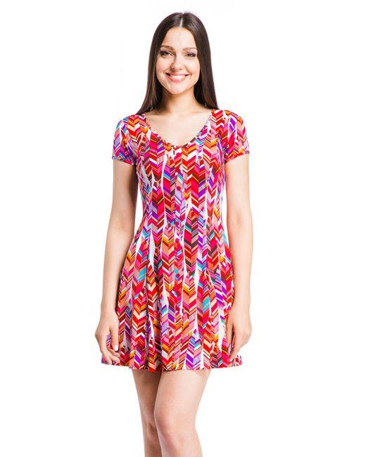 Mondigo   Женское Розовое Платье 7055-2