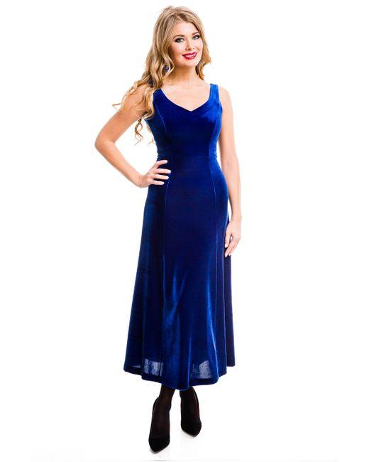 Mondigo | Женское Синее Платье 7017