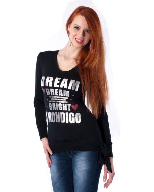 Mondigo | Женская Чёрная Футболка 8139