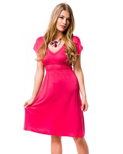 Mondigo | Женское Розовое Платье 8597