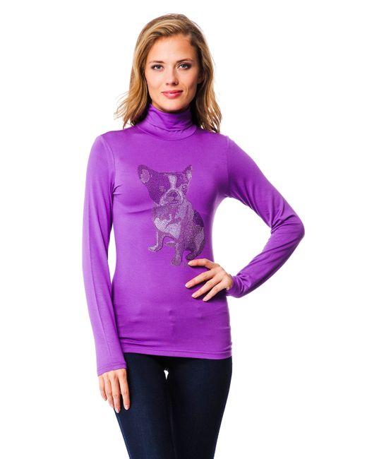 Mondigo | Женская Фиолетовая Водолазка 8318