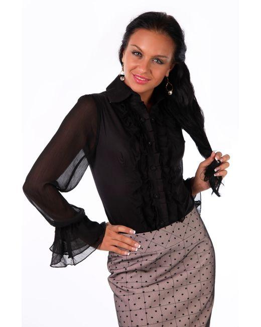 Mondigo   Женская Чёрная Блузка 9632