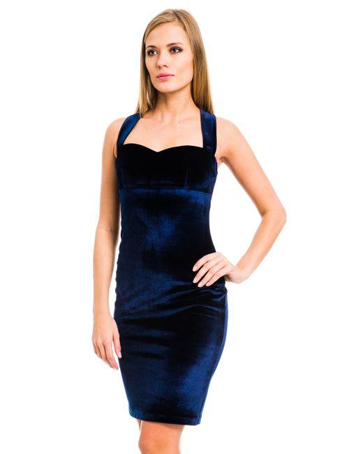 Mondigo | Женское Синее Платье 7024