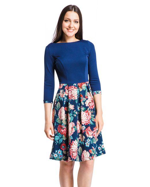 Mondigo | Женское Синее Платье 5161