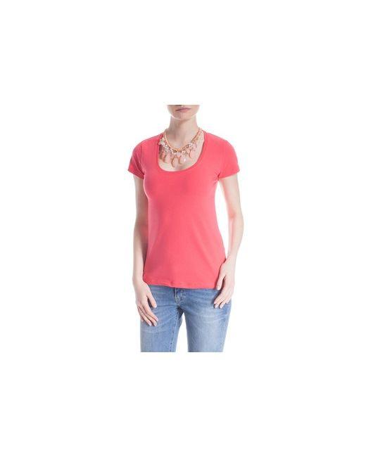 MOTIVI | Коричневая Блуза Basic С Короткими Рукавами