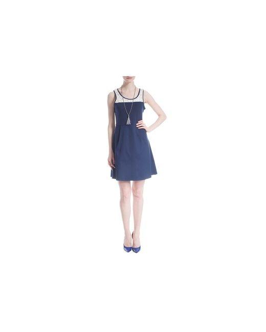 MOTIVI | Женское Синее Платье С Атласной Частью