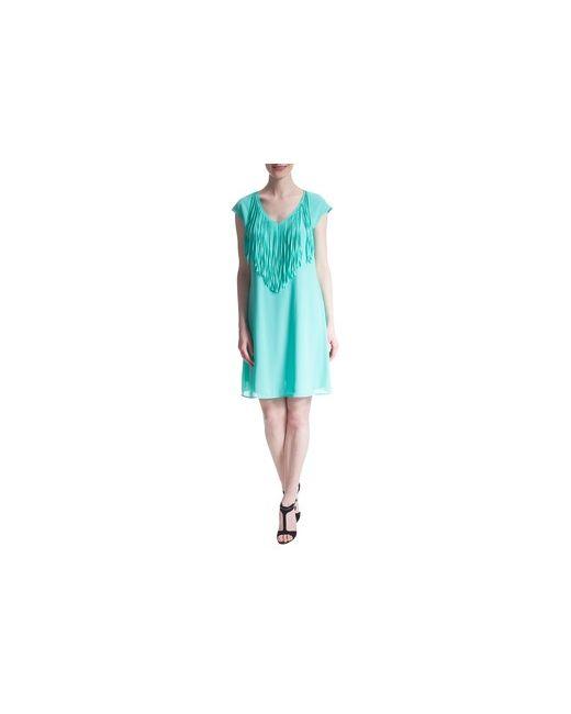 MOTIVI | Женское Коричневое Платье С Бахромой