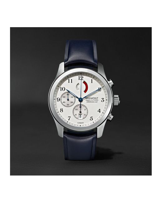 Bremont   Серебристый Americas Cup Regatta Stainless Steel And Rubber