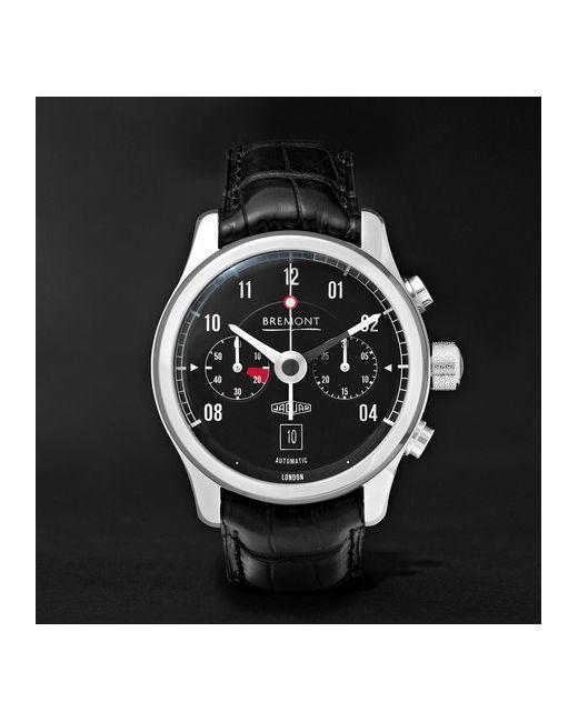 Bremont   Чёрный Mkii Jaguar Stainless Steel And Alligator Watch