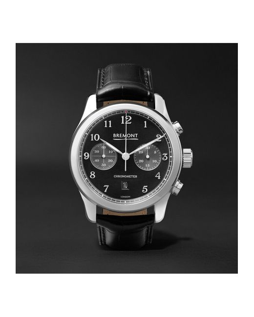 Bremont | Чёрный Alt1-Classic/Pb Stainless Steel And Alligator Automatic Chronograph