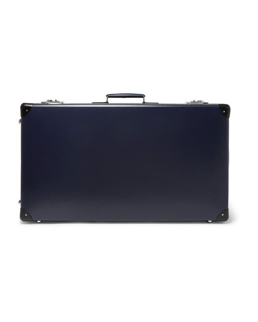 Globe-Trotter   Navy 30 Leather-Trimmed Suitcase