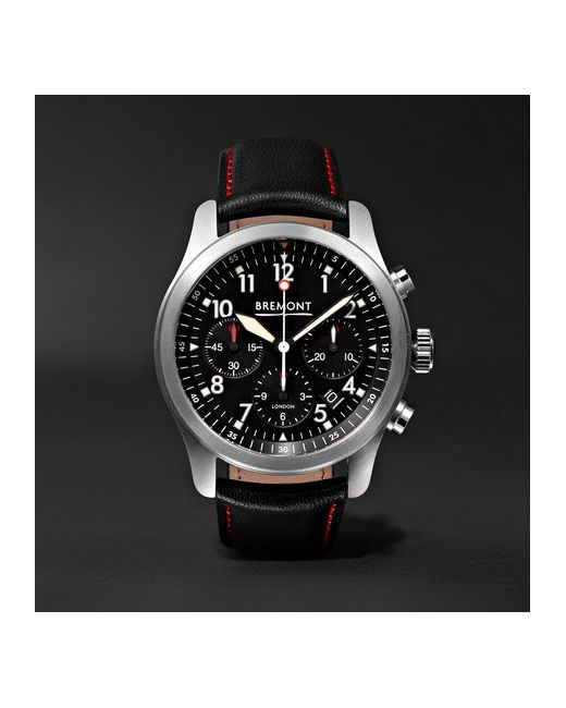 Bremont | Чёрный Alt1-P/Bk Automatic Chronograph 43mm Stainless Steel And