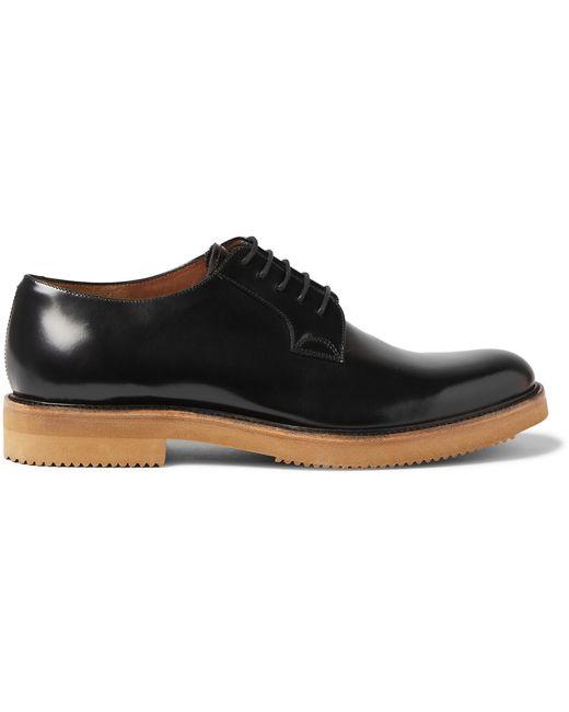 Dries Van Noten   Patent-Leather Derby Shoes Black