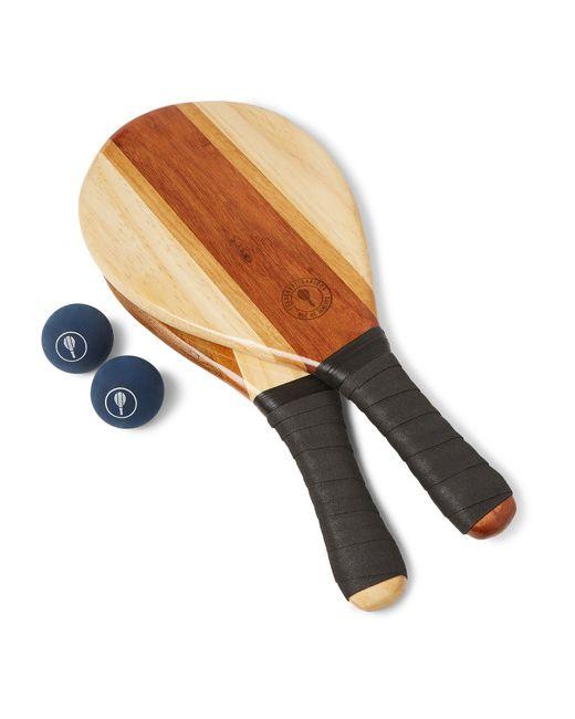 FRESCOBOL CARIOCA | Чёрный Wooden Beach Bat And Ball Set