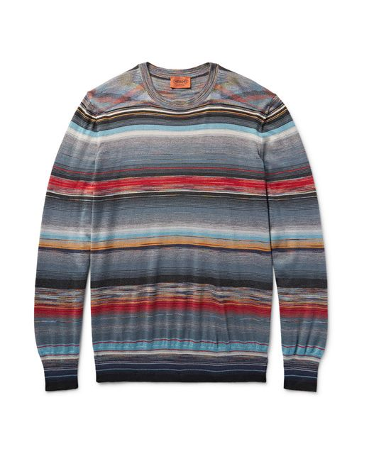 Missoni | Серый Space-Dyed Cashmere And Silk-Blend Sweater