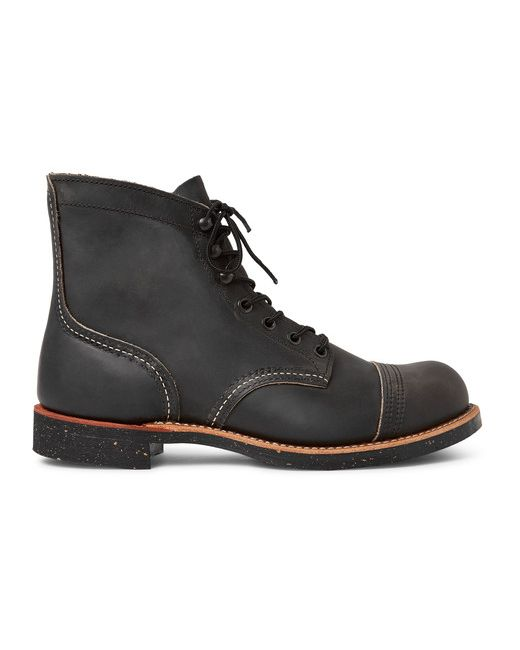 Red Wing Shoes | Charcoal Iron Ranger Distressed Leather Boots