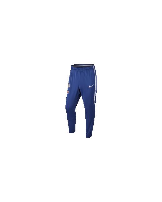 Nike | Мужские Синие Футбольные Брюки Chelsea Fc Dry Squad