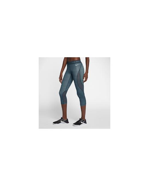 Nike | Женское Синее Капри Для Тренинга Pro Hypercool 56 См