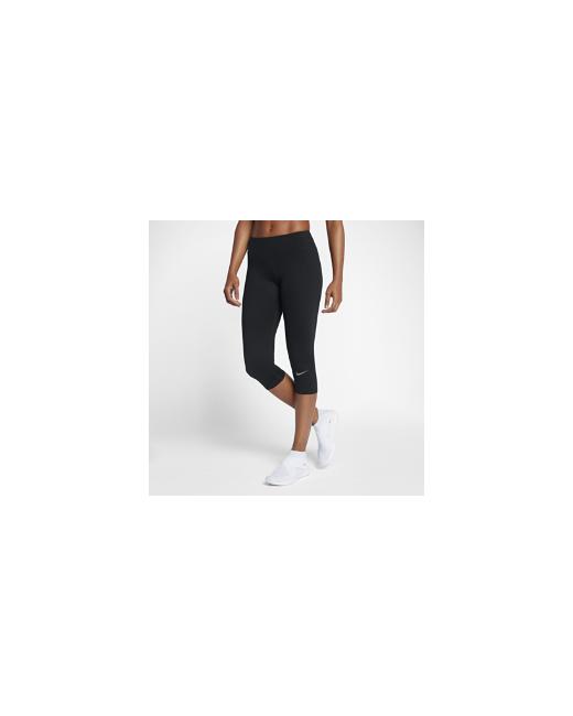 Nike | Женские Чёрные Беговые Капри Zonal Strength