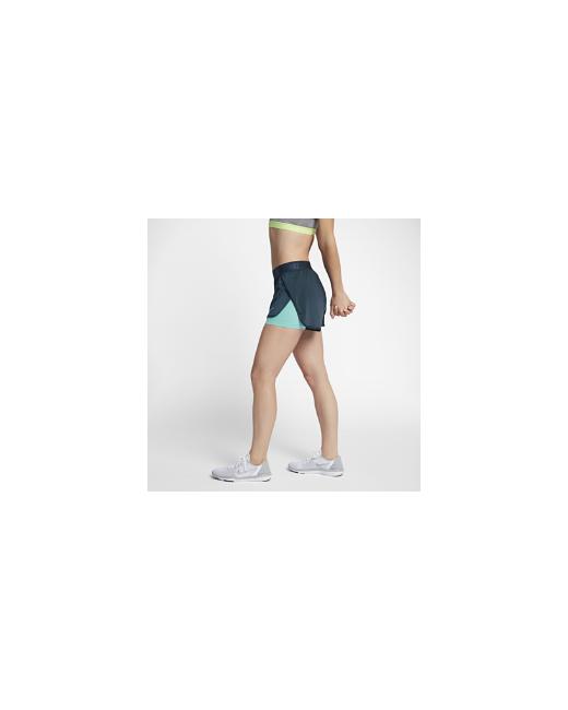Nike   Женские Синие Шорты Для Тренинга Dry
