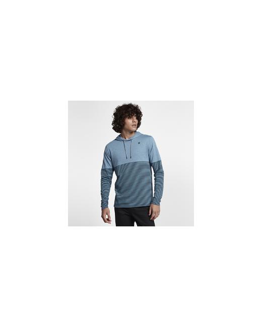 Nike | Мужские Синие Худи Hurley Dri-Fit Recess