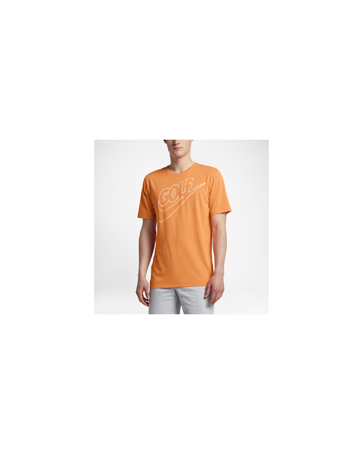 Nike | Мужская Оранжевая Футболка Для Гольфа Dry Solar Fade