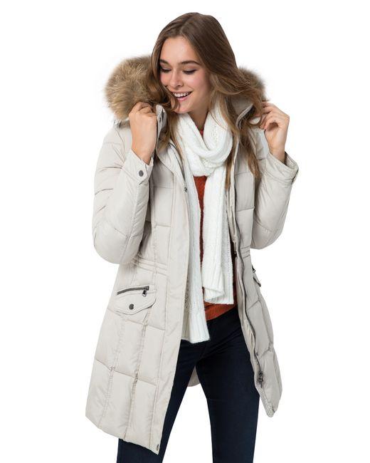 OSTIN | Женское Пальто С Опушкой Из Натурального Меха