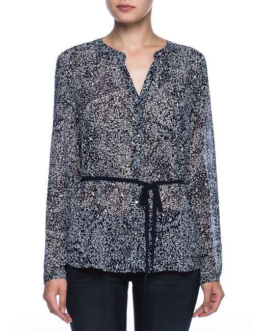 OSTIN   Женская Принтованная Блузка С Декоративным Поясом