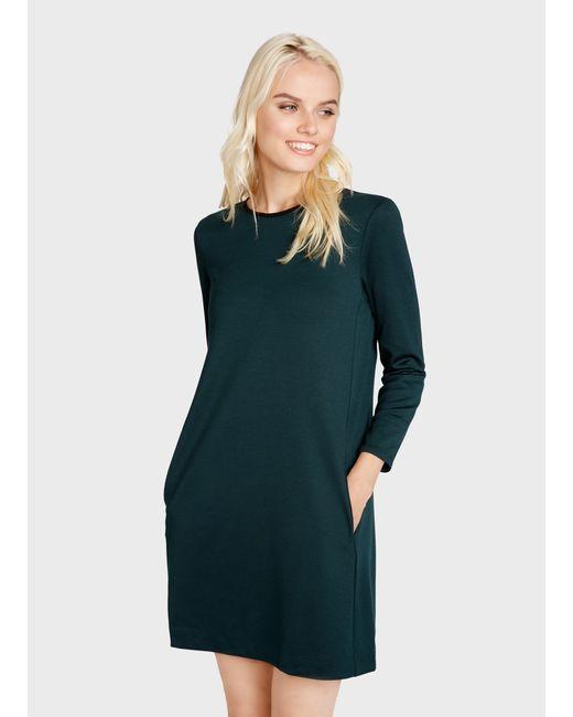 4294b806a2893f9 Женское Зелёное Платье А-Силуэта Из Джерси OSTIN 155863030299