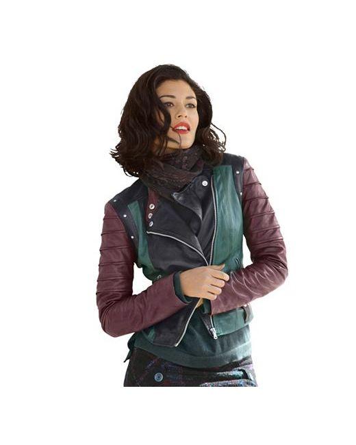 ALBA MODA GREEN   Женская Кожаная Куртка