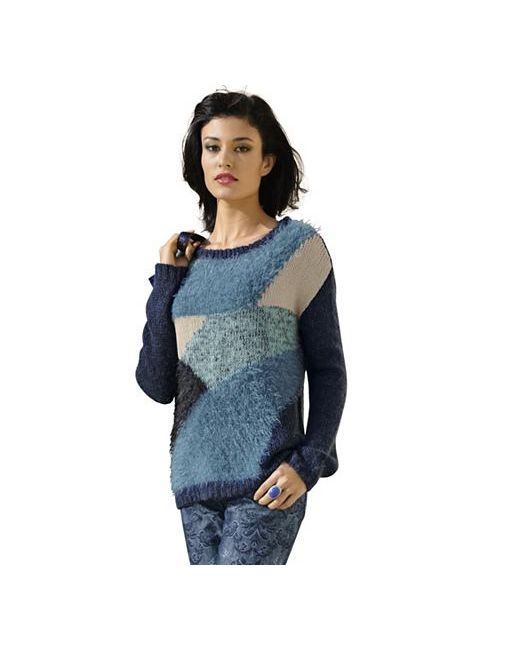 ALBA MODA GREEN | Женский Пуловер Грубой Вязки
