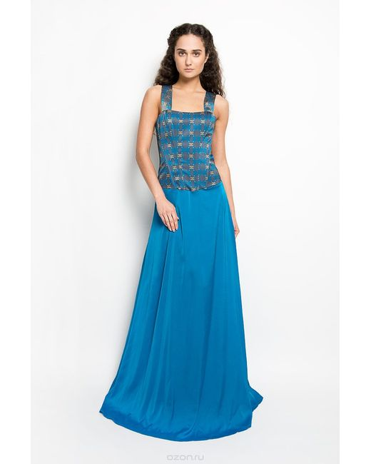 Анна Чапман | Женское Голубое Платье