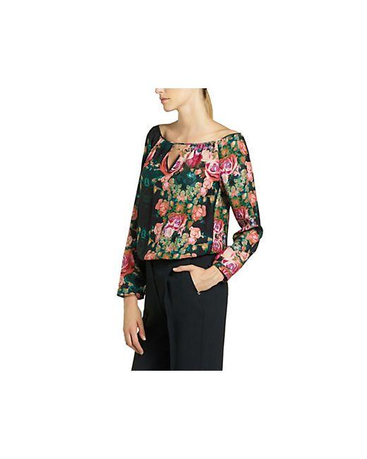 Patrizia Pepe | Женское Чёрный - Шелковая Блузка С Рисунком
