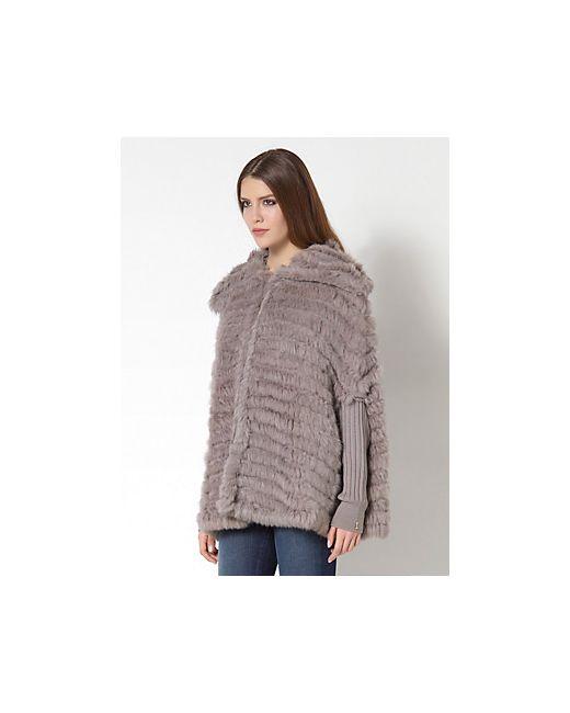Patrizia Pepe | Женское Серое Пальто-Накидка Из Шерстяной Трикотажной Ткани И Натурального