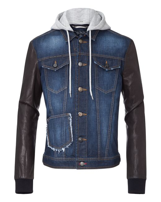 Philipp Plein | Синий Denim Jacket Air Force