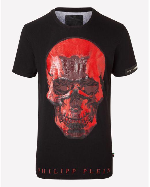 Philipp Plein | Чёрный T-Shirt On Fire