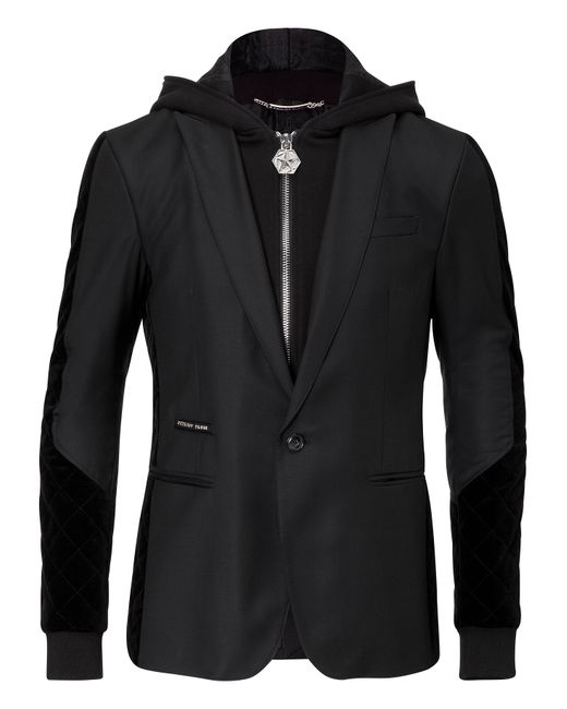 Philipp Plein | Чёрный Hooded Blazer Festivity