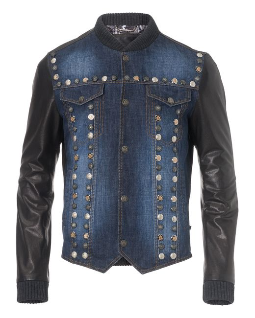 Philipp Plein | Чёрный Leather Jacket Bayfield