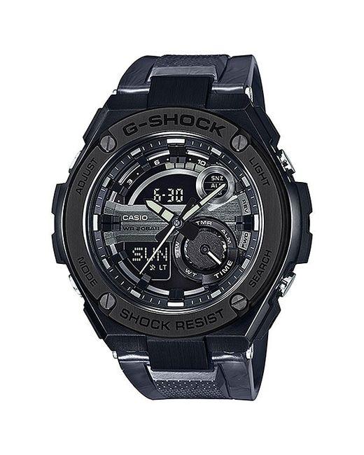 Casio | Мужские Чёрные Электронные Часы G-Shock Gst-210m-1a