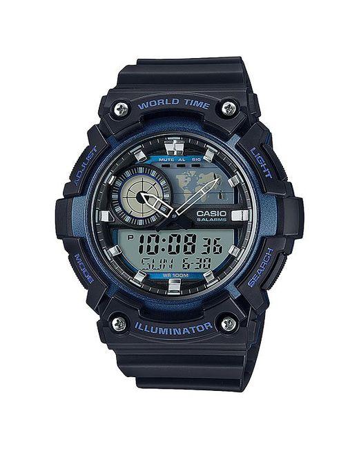 Casio | Мужские Синие Электронные Часы Collection Aeq-200w-2a