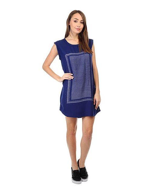 Roxy   Женское Синее Платье Sun Print