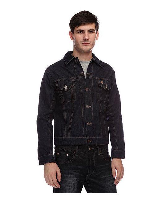 Volcom   Мужская Синяя Куртка Turbo Jacket Rinse