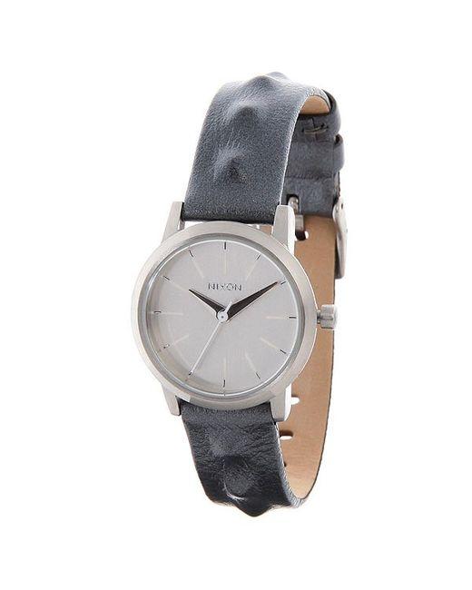 Nixon   Женские Часы Женские Kenzi Leather All Silver/Studded