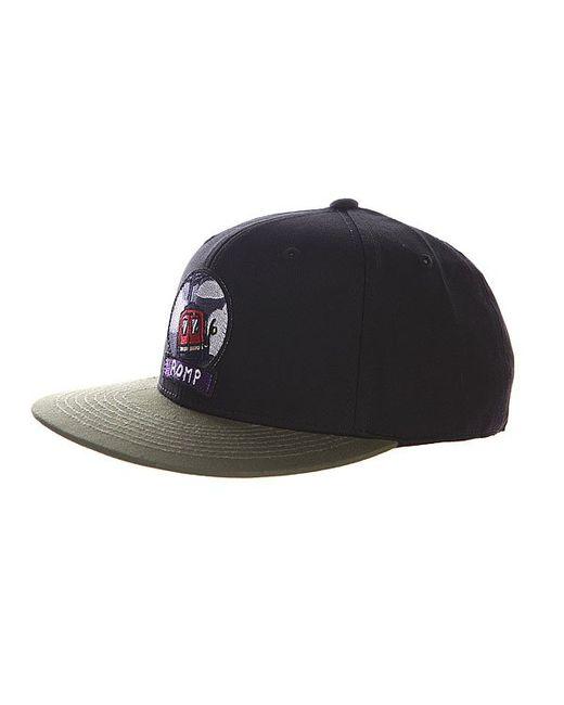 Romp | Мужская Чёрная Бейсболка Snapback Black/Khaki
