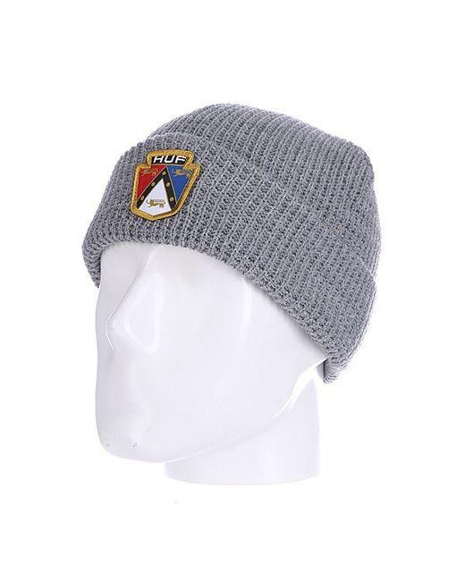 Huf | Мужская Серая Шапка Badge Beanie Grey