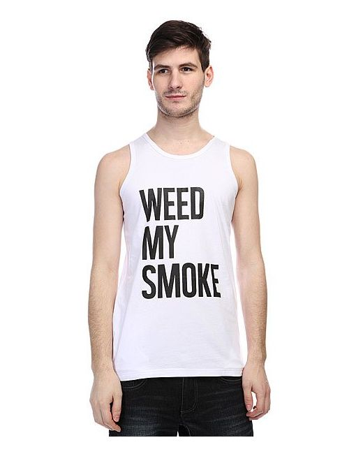 Truespin | Мужская Белая Майка Weed My Smoke White