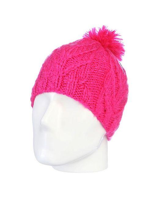 Volcom   Женская Розовая Шапка С Помпоном Женская Leaf Beanie Pink