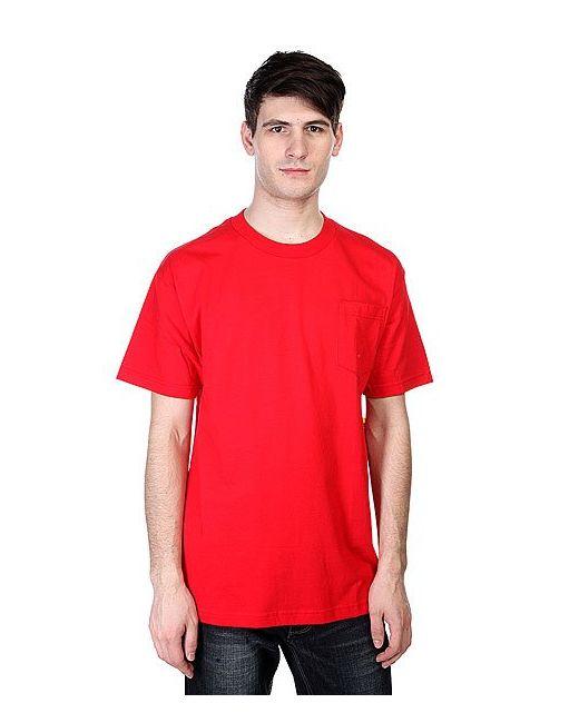 Cliche | Мужская Красная Футболка Big Paper Pocket Red