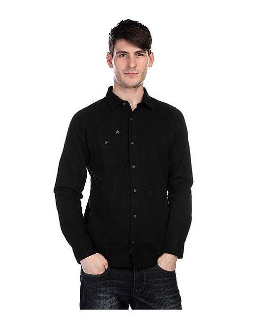 Volcom | Мужская Чёрная Рубашка Oxford Ls Black